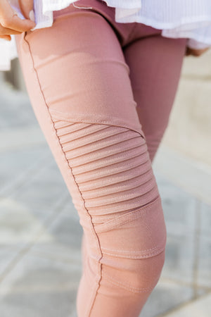 Marvelous Moto Jeggings In Mauve