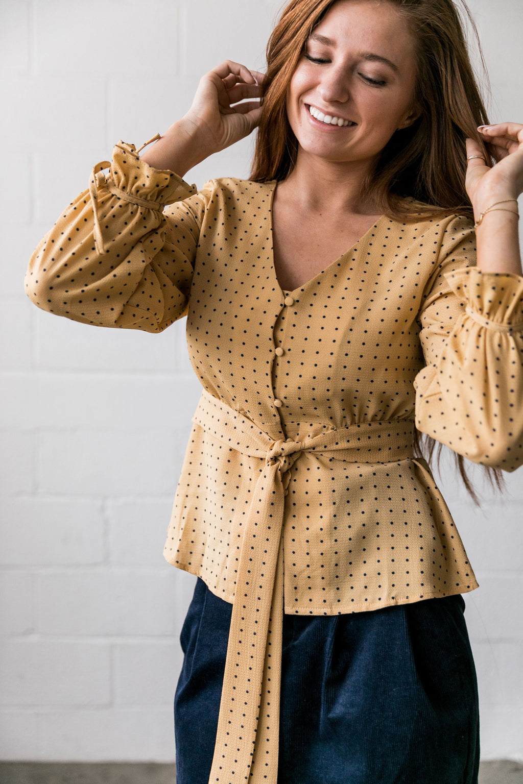 Pretty As A Picture Polka Dot Blouse