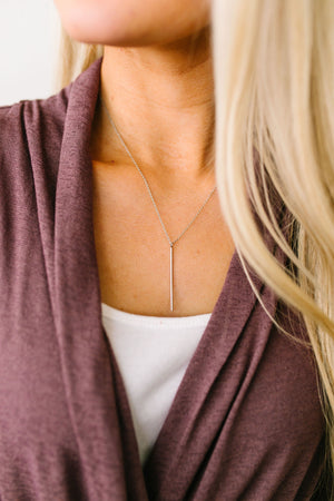 Streak Of Silver Pendant Necklace