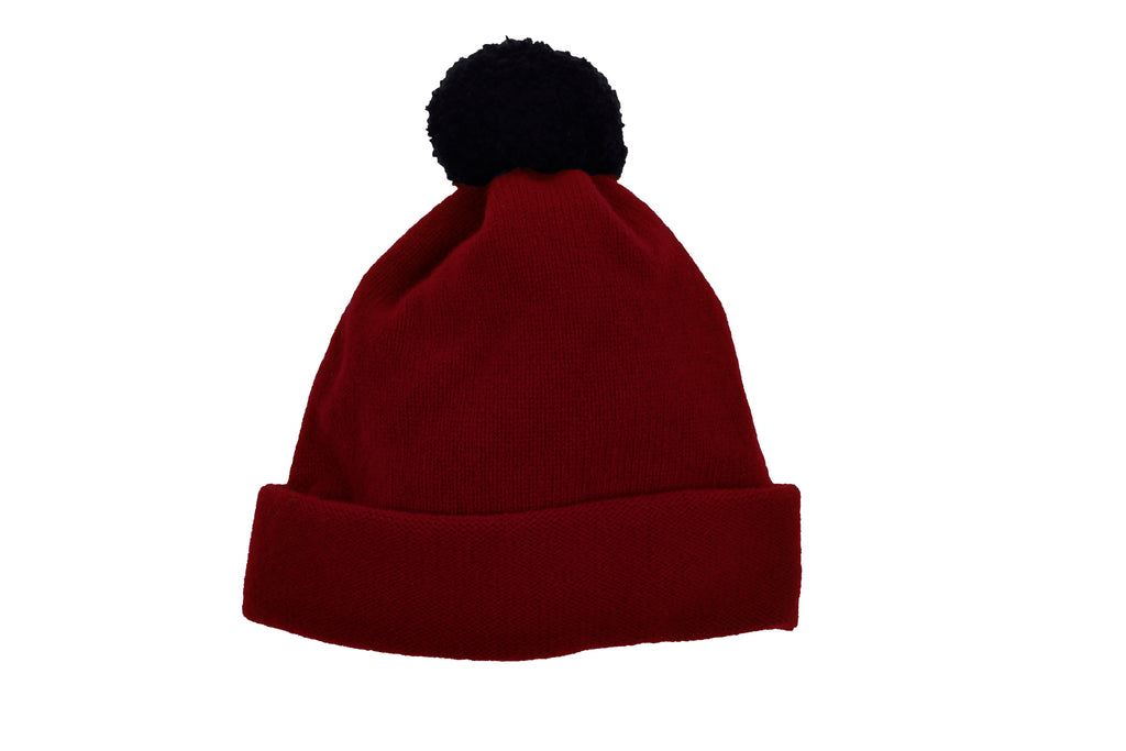 ARGYLL BOBBLE HAT - RUSSET RED