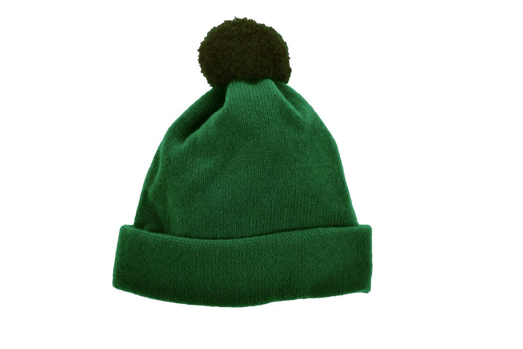 ARGYLL BOBBLE HAT - FOREST GREEN