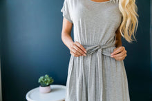 Load image into Gallery viewer, Effortless Knit Tie-Front Dress - ALL SALES FINAL