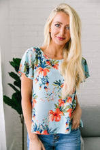 Load image into Gallery viewer, Tropical Paradise Blouse In Light Blue
