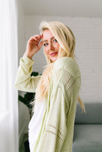 Load image into Gallery viewer, Open Knit Cardi In Melon