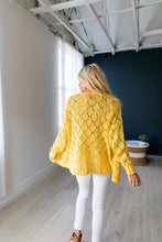 Load image into Gallery viewer, Delilah Diamond Knit Cardi In Yellow - ALL SALES FINAL