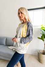 Load image into Gallery viewer, Dolman Sleeve Floral Color Block Top