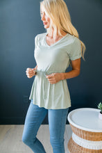 Load image into Gallery viewer, Figure Flattering V-Neck In Soft Sage