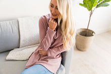 Load image into Gallery viewer, Isn't She Lovely Mauve Waffle Knit Top - ALL SALES FINAL