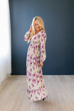 Load image into Gallery viewer, Lavender Rose Maxi Dress