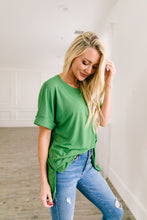 Load image into Gallery viewer, Nessa Crew Neck Top In Kiwi - ALL SALES FINAL