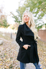 Load image into Gallery viewer, A Breath Of Paris Classic Wrap Trench Coat In Black - ALL SALES FINAL