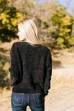 Load image into Gallery viewer, A Soft Chenille Sweater Turneth Away Wrath In Black - ALL SALES FINAL
