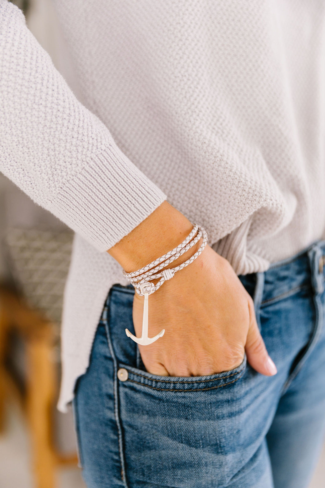 Anchors Away Bracelet In White