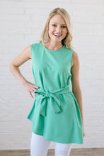 Load image into Gallery viewer, Astor Asymmetric Hem Top In Mint