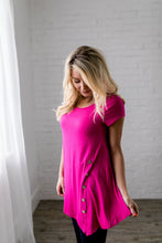 Load image into Gallery viewer, Asymmetrical Buttons Tunic In Hot Pink