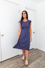 Load image into Gallery viewer, Babydoll Blue Ruffle Sleeve Dress - ALL SALES FINAL