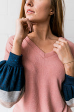 Load image into Gallery viewer, Bethany Ribbed V-Neck Sweatshirt