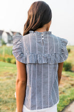 Load image into Gallery viewer, Black + White Gingham Top