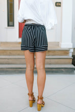 Load image into Gallery viewer, Black Striped Shorts