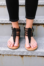 Load image into Gallery viewer, Black Summer Sandals - ALL SALES FINAL
