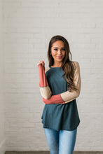 Load image into Gallery viewer, Blanca Color Block Raglan Tee - ALL SALES FINAL