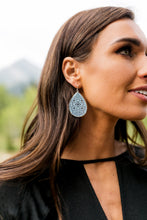 Load image into Gallery viewer, Blue Moroccan Cut Earrings
