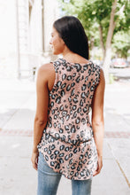 Load image into Gallery viewer, Blushing Leopard Tie-Front Tank