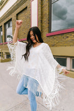 Load image into Gallery viewer, Boho Embroidered + Fringed Top
