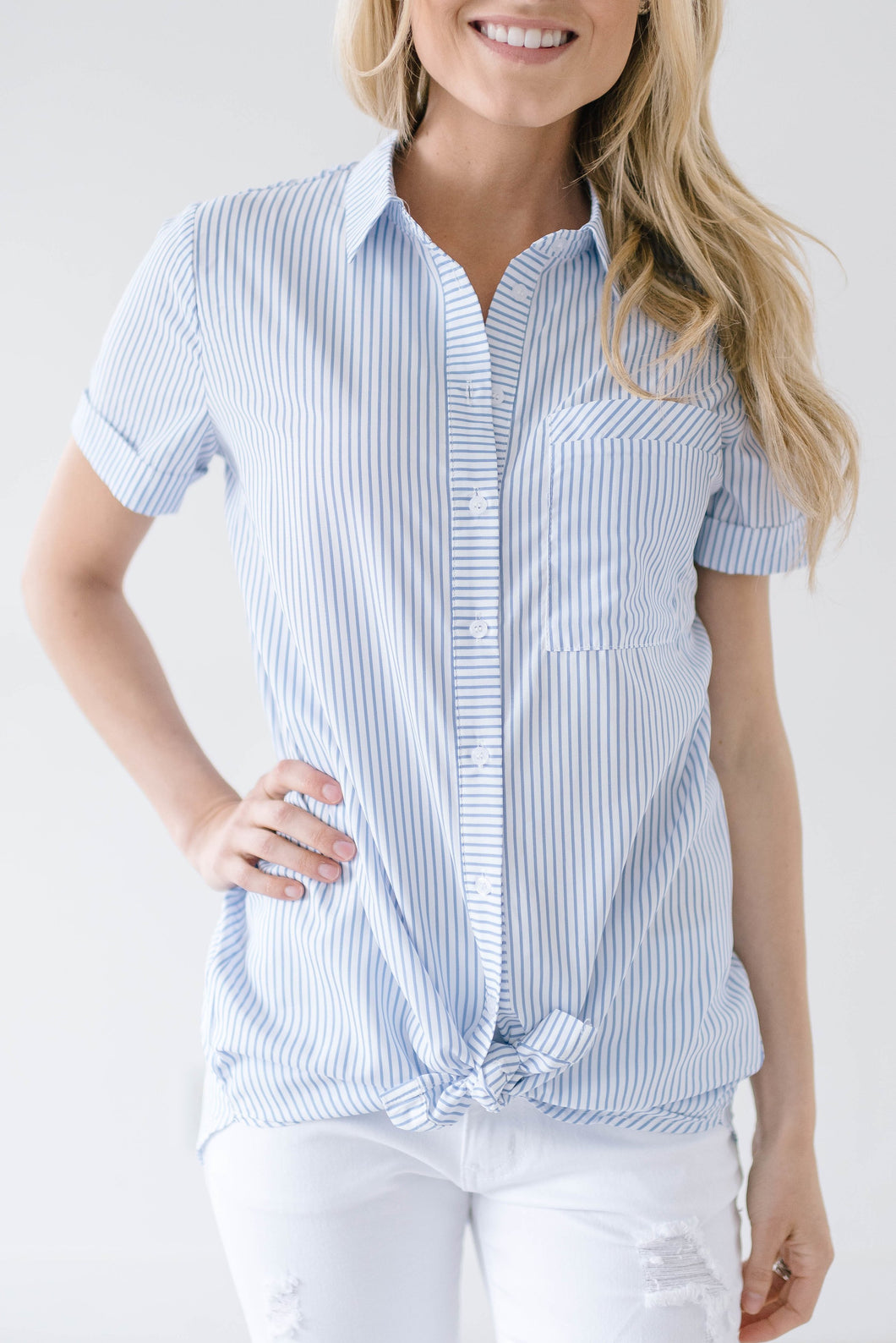 Boyfriend Stripes Top