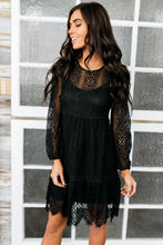 Load image into Gallery viewer, Bring On The Holidays Crochet Lace Dress