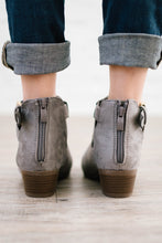 Load image into Gallery viewer, Buckle Booties in Grey Suede