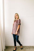 Load image into Gallery viewer, Burnout Beauty Embossed Velvet Top In Mauve - ALL SALES FINAL