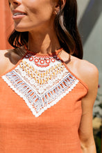Load image into Gallery viewer, Burnt Orange Embroidered Halter