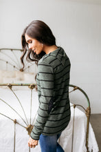 Load image into Gallery viewer, Carolina In My Mind Striped Top In Olive