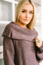 Load image into Gallery viewer, Colossal Cowl Neck Sweater In Midnight Purple