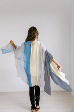 Load image into Gallery viewer, Cool Striped Color Block Kimono