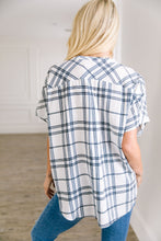Load image into Gallery viewer, Crisp Plaid Button Down Top - ALL SALES FINAL