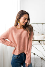 Load image into Gallery viewer, Cropped Cable Knit Sweater In Ginger - ALL SALES FINAL