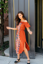 Load image into Gallery viewer, Desert Rose Dress In Rust - ALL SALES FINAL