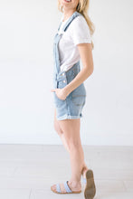 Load image into Gallery viewer, Distressed Denim Overall Shorts
