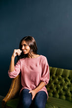 Load image into Gallery viewer, Double Bubble Brushed Knit Top In Dusty Rose