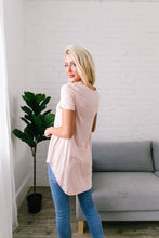 Load image into Gallery viewer, Double Cross Tee In Blush