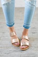 Load image into Gallery viewer, Double Time Rose Gold Sandals