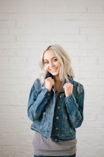 Load image into Gallery viewer, Downtown Denim Crop Jacket