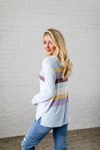 Load image into Gallery viewer, Easter Striped Top In Baby Blue