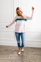 Load image into Gallery viewer, Easter Striped Top In Soft Pink