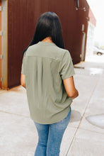 Load image into Gallery viewer, Elegant Olive Blouse