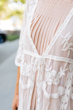 Load image into Gallery viewer, Endless Summer Scalloped Kimono In Ivory - ALL SALES FINAL