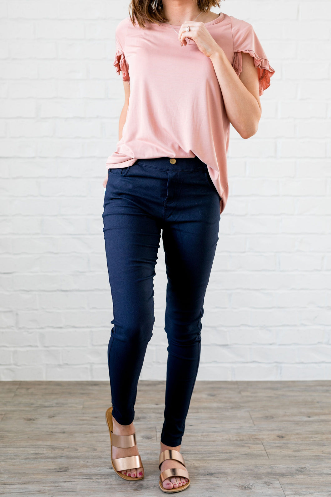 Everyday Colored Jeggings in Navy