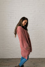 Load image into Gallery viewer, Faded Memories Chenille Cardigan In Mauve